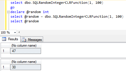SQL Server CLR function example code