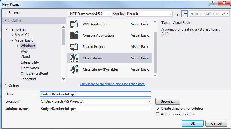 SQL Server CLR project using Visual Studio VB.NET Windows Class library template