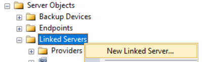 create Linked Server on SQL Server