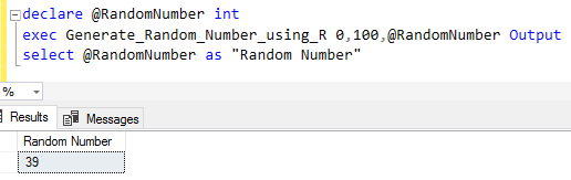 SQL stored procedure for random numbers