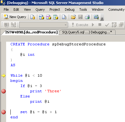debug-stored-procedure-in-sql-server-2008