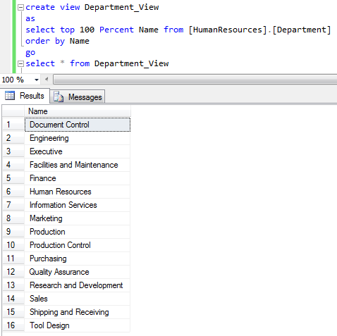 how to find a view in sql server