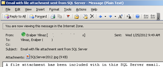 SQL Server email sample using sp_send_dbmail with file_attachments