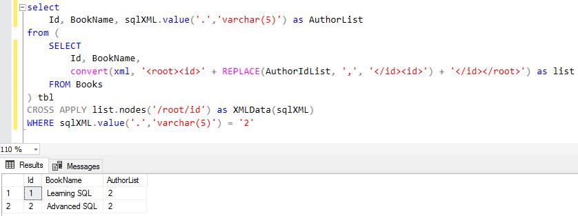 split concatenated string using SQL XML for database programmer