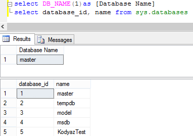 Get Current Database Name in SQL Server using DB_NAME() Function