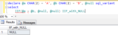 SQL Server IIF() boolean function