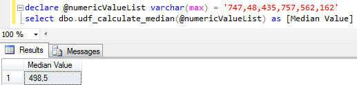SQL median value calculation function in SQL Server