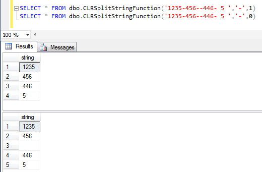 split string using SQL CLR function in SQL Server