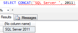 SQL Server Concat() string concatenation function example