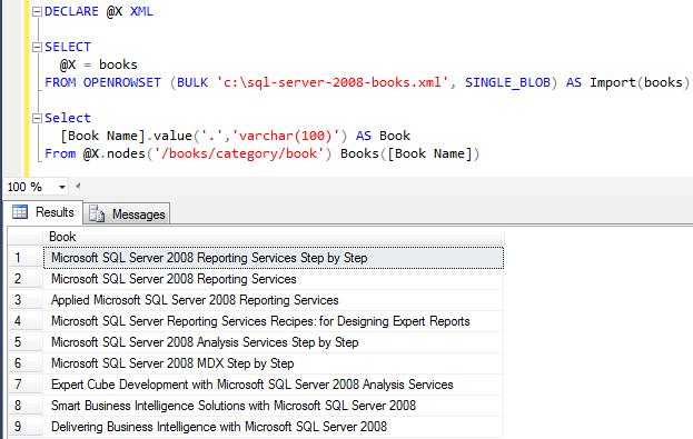 import XML into SQL Server database