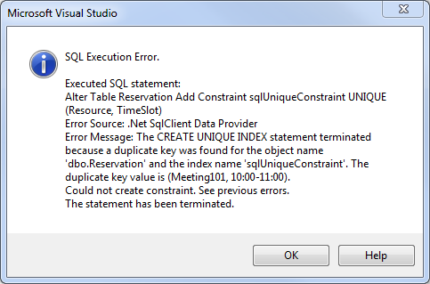 could not create unique constraint in SQL Server