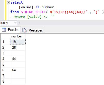 SQL split string function in SQL Server 2016
