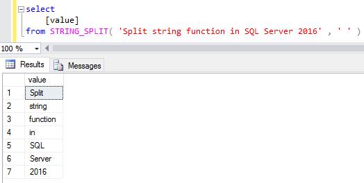 SQL Server String_Split function