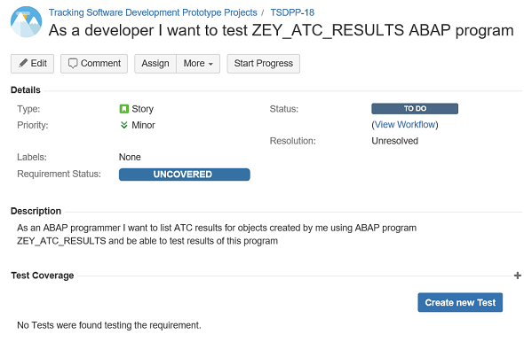 create requirement using Xray test management tool in JIRA