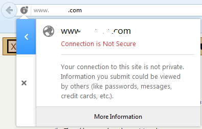 Connection is Not Secure