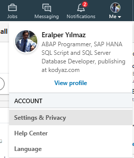 LinkedIn Settings and Privacy for your account