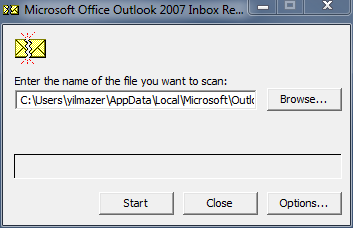 scanpst Office Outlook repair tool