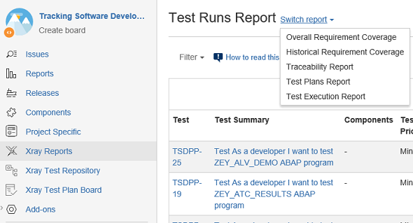 Xray Test Management reports in Jira