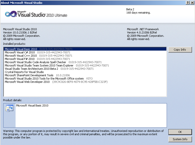 Microsoft Visual Studio 2010 Screenshots After MS VS2010