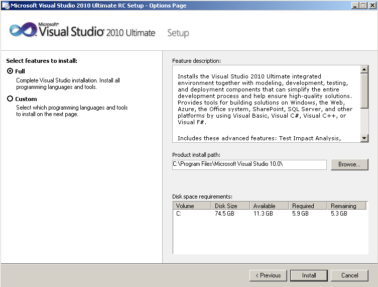 visual-studio-2010-features-to-install-path-and-disk-space-requirements