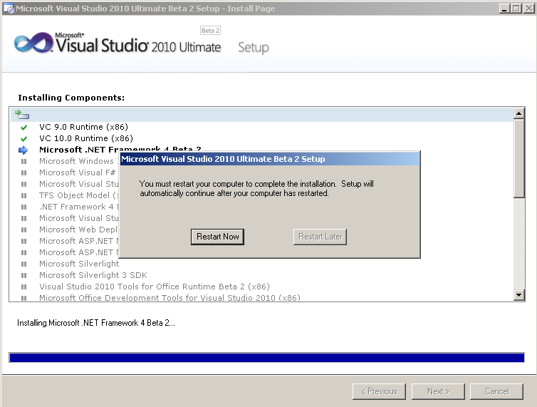 vs2010-restart-after-microsoft-framework-4.0-installation