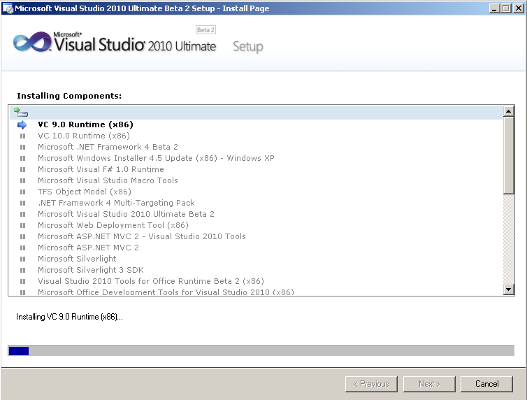 microsoft-visual-studio-2010-ultimate-setup-beta-2-installing-components