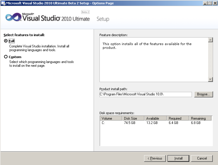 vs2010-ultimate-setup-visual-studio-2010-features-selection