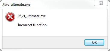 vs_ultimate.exe Incorrect function. Visual Studio 2012 setup error