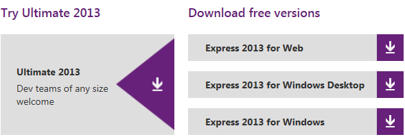 download Visual Studio 2013 free