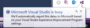 based on Visual Studio Experience Program settings