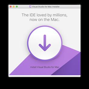 install Visual Studio for Mac