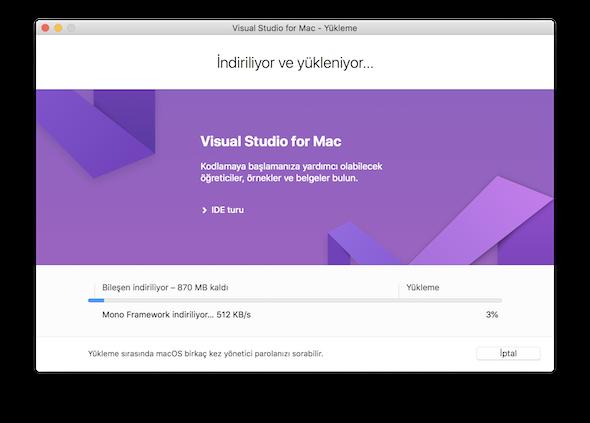 installing Visual Studio for Mac