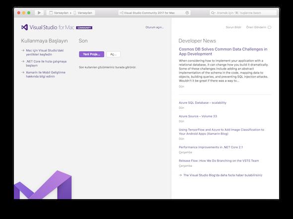 Visual Studio Community 2017 for Mac