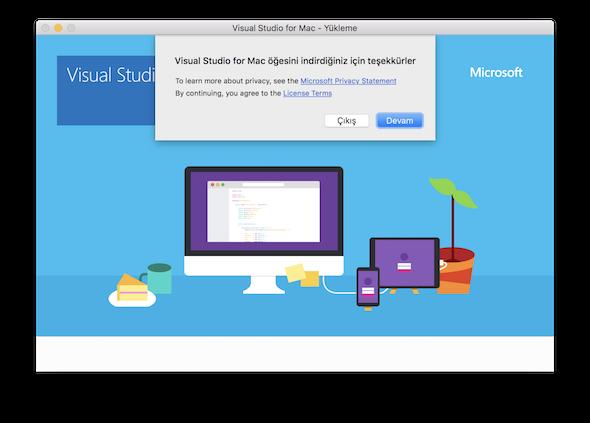 Visual Studio for Mac installation