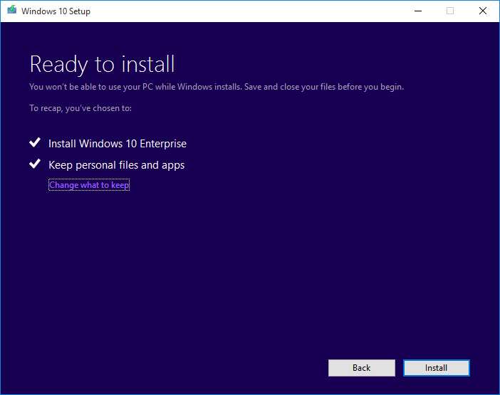 install Windows 10 Enterprise