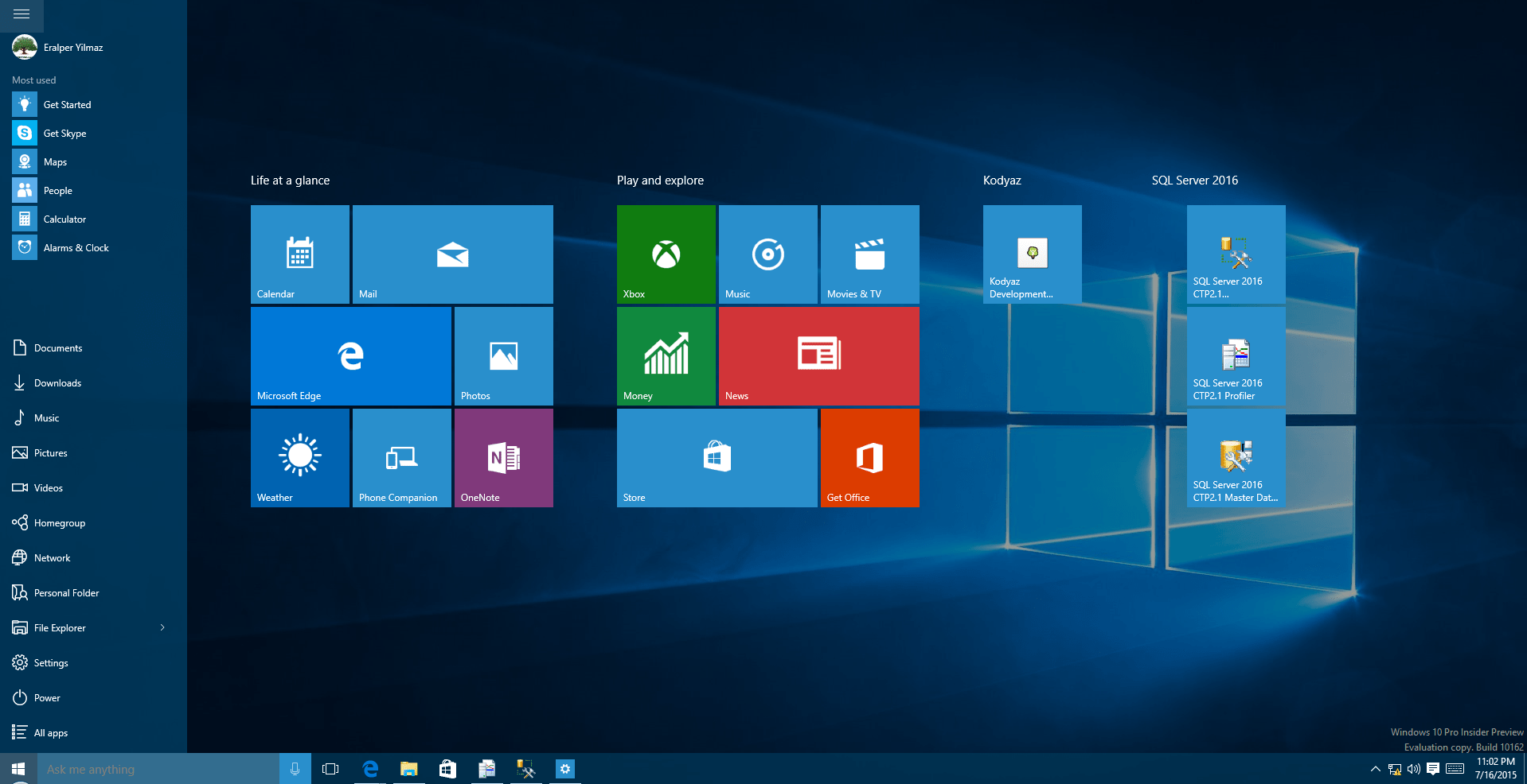 use Start as full screen on Windows 10