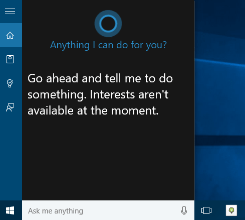 Windows 10 Cortana personal assistant for Windows users