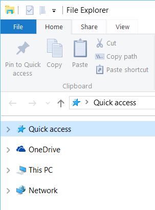 File Explorer on Windows 10 launches Quick Access by default