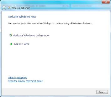 Activate Windows online now
