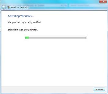 Windows7 activation