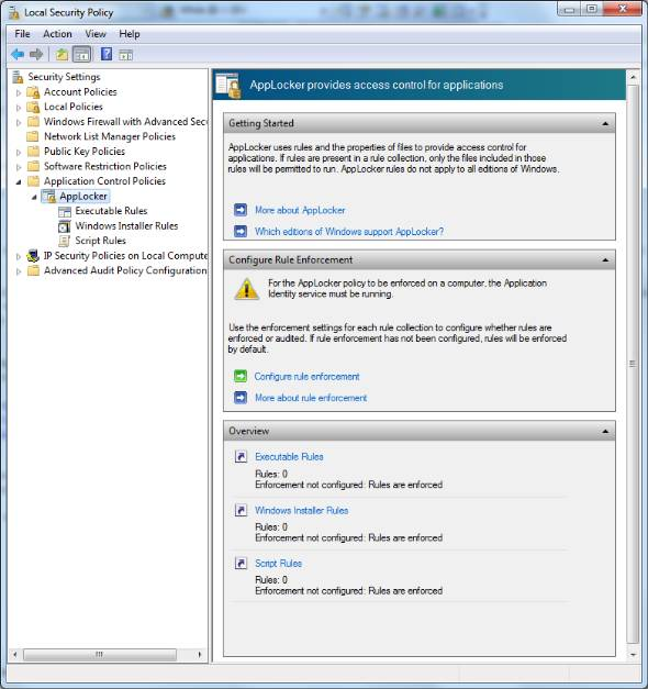 Windows 7 applocker feature