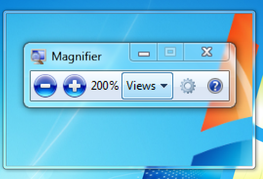 Microsoft Screen Magnifier in Windows 7