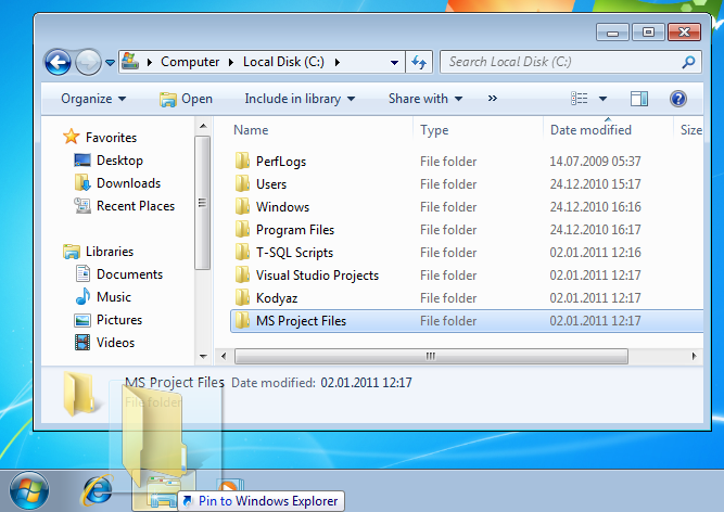 how-to-pin-a-folder-on-windows-7-taskbar