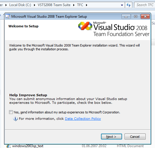 MS-Visual-Studio-2008-Team-Explorer-Installation