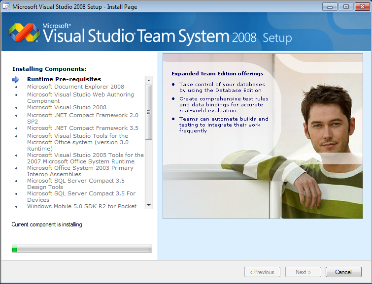 Visual-Studio-Team-System-2008-installing-components
