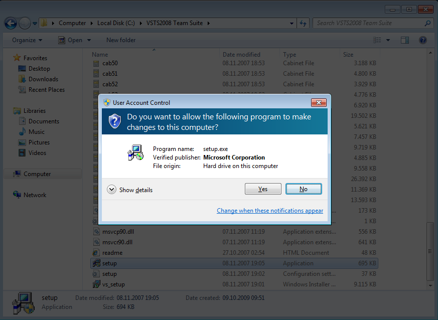 user-account-control-for-visual-studio-2008-setup.exe-on-windows-7