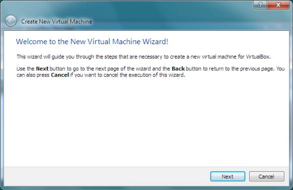 create new virtual machine wizard