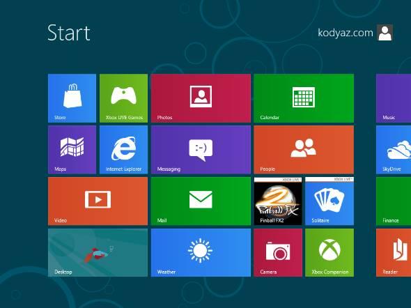 consumer beta Windows 8 start screen