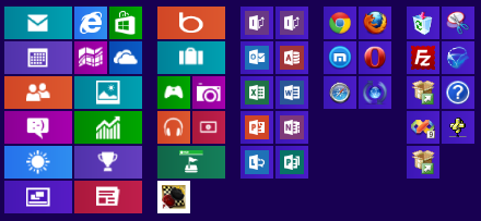 application tiles and tile groups on Windows Start screen