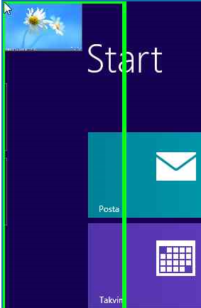 top left corner of Windows 8 Start screen